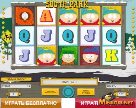Игровой автомат, созданный по сюжету популярного мультика Южный Парк