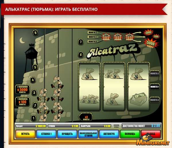 Бесплатный игровой автомат Алькатрас 2 (Alkatraz 2) онлайн