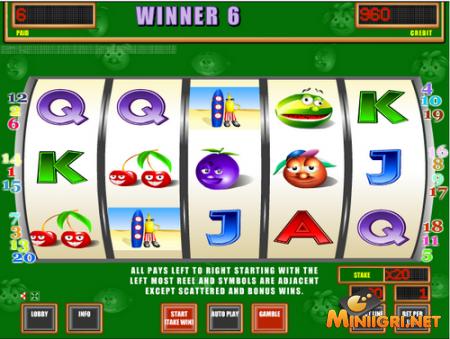 Crazy Fruits - игровой автомат, который подымет Вам настроение