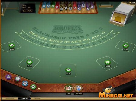 Игровой слот Multi-Hand European Blackjack Gold