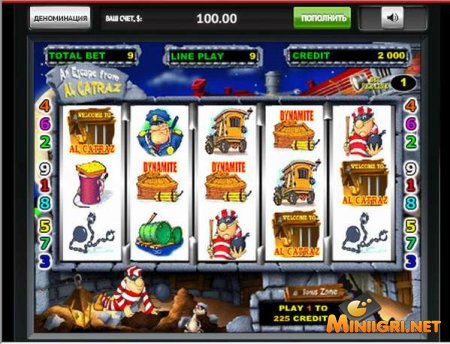Игровой автомат alcatraz играть онлайн